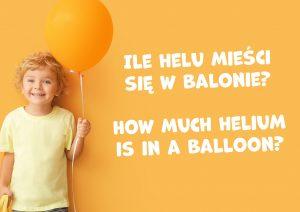 Ilość helu do balonów GoDan